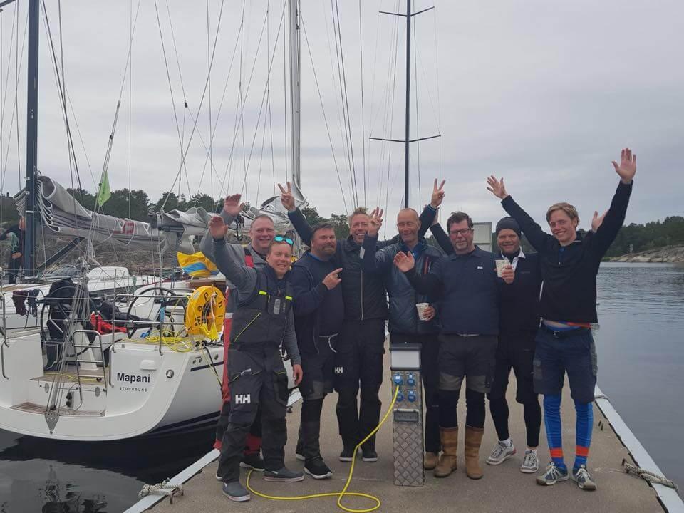 """Stort GRATTIS till """"Mapani """" med besättning – 4:a på Gotland runt!"""